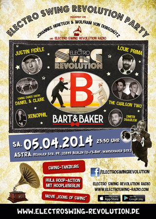 Electro Swing Revolution am 05.04.2014 @ ASTRA BERLIN