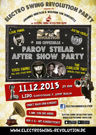 Parov Stelar After Show Party am 11.12.2013 @ LIDO BERLIN