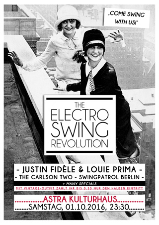 Electro Swing Revolution am 01.10.2016 @ ASTRA BERLIN