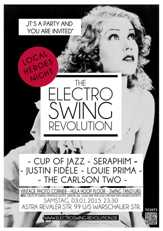 Electro Swing Revolution am 03.01.2015 @ ASTRA BERLIN