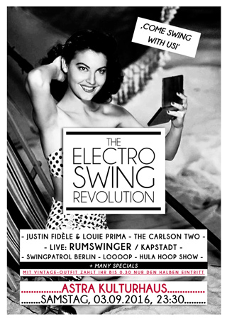 Electro Swing Revolution on 03.09.2016 @ Badehaus Berlin