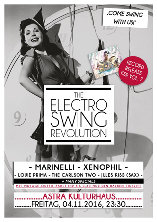 Electro Swing Revolution am 04.11.2016 @ ASTRA BERLIN