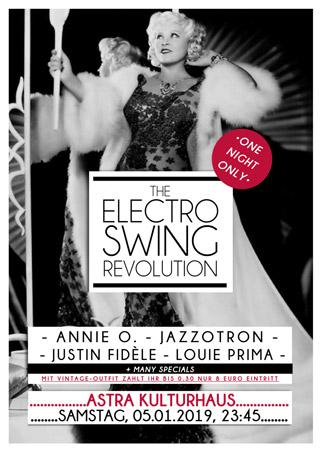 Electro Swing Revolution am 05.01.2019 @ ASTRA KULTURHAUS BERLIN