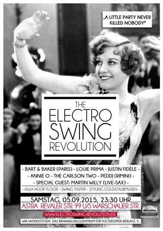 Electro Swing Revolution am 05.09.2015 @ ASTRA BERLIN