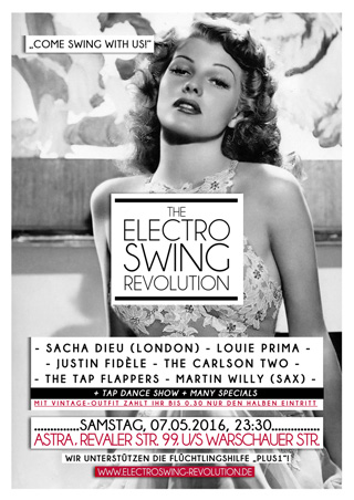 Electro Swing Revolution on 07.05.2016 @ ASTRA Berlin