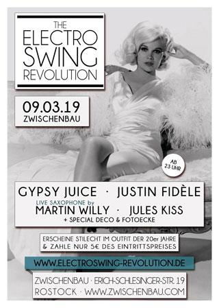 Electro Swing Revolution am 09.03.2019 @ ZWISCHENBAU ROSTOCK