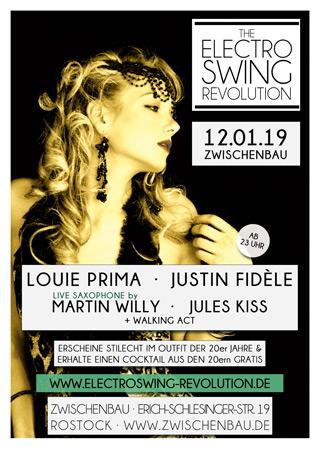 Electro Swing Revolution am 12.01.2019 @ ZWISCHENBAU ROSTOCK
