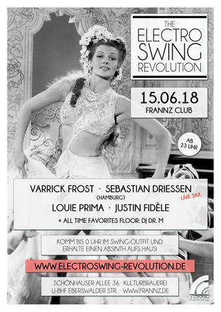 Electro Swing Revolution am 15.06.2018 @ FRANNZ CLUB BERLIN