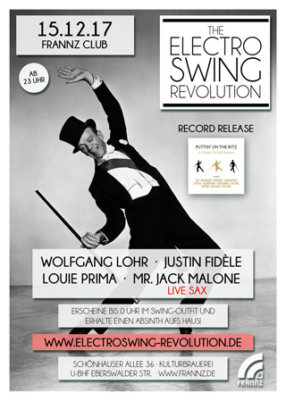 Electro Swing Revolution am 15.12.2017 @ FRANNZ CLUB BERLIN