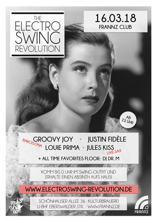 Electro Swing Revolution am 16.03.2018 @ FRANNZ CLUB BERLIN