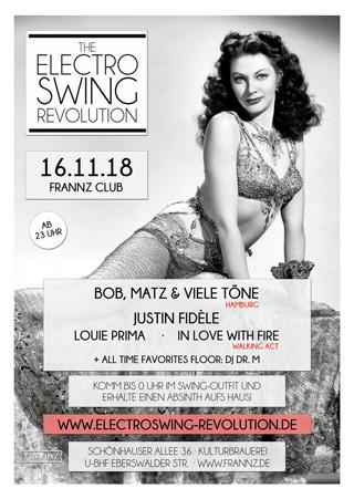 Electro Swing Revolution am 16.11.2018 @ FRANNZ CLUB BERLIN