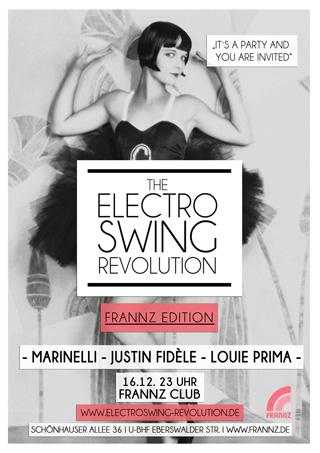 Electro Swing Revolution am 16.12.2016 @ FRANNZ CLUB BERLIN