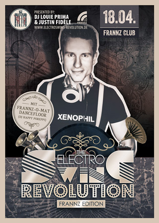 Electro Swing Revolution am 18.04.2014 @ FRANNZ CLUB BERLIN