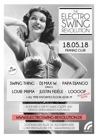 Electro Swing Revolution am 18.05.2018 @ FRANNZ CLUB BERLIN