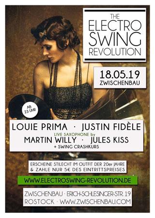 Electro Swing Revolution am 12.10.2019 @ ZWISCHENBAU ROSTOCK