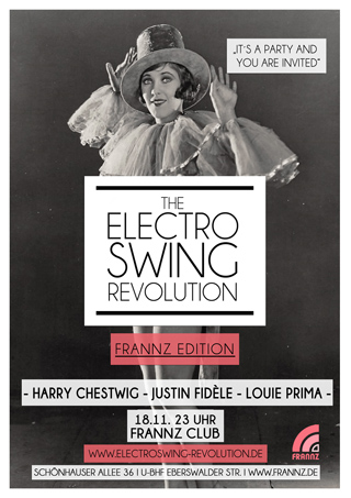 Electro Swing Revolution on 18.11.2016 @ FRANNZ CLUB Berlin