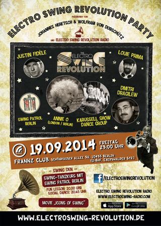 Electro Swing Revolution am 19.09.2014 @ FRANNZ CLUB BERLIN