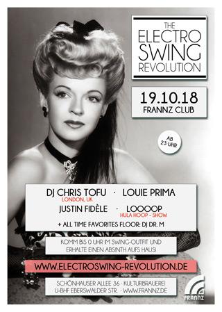 Electro Swing Revolution am 19.10.2018 @ FRANNZ CLUB BERLIN