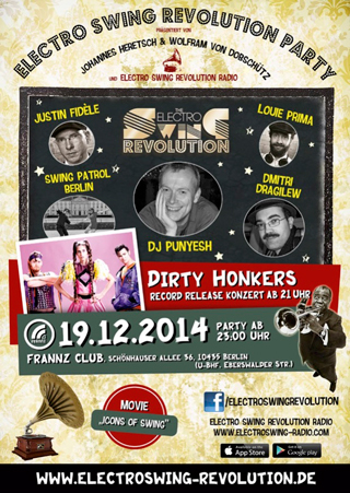 Electro Swing Revolution am 19.12.2014 @ FRANNZ CLUB BERLIN