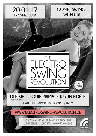 Electro Swing Revolution am 20.01.2017 @ FRANNZ CLUB BERLIN