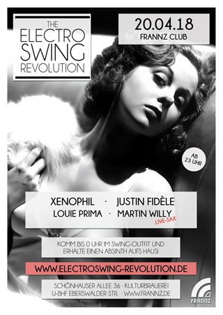 Electro Swing Revolution am 20.04.2018 @ FRANNZ CLUB BERLIN