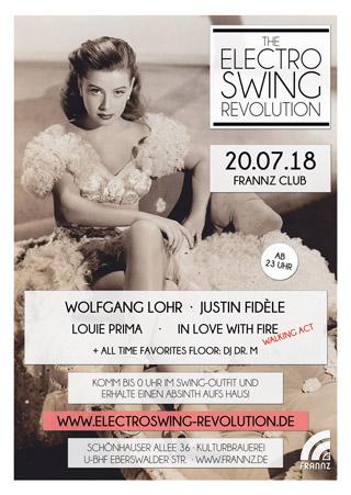 Electro Swing Revolution am 20.07.2018 @ FRANNZ CLUB BERLIN