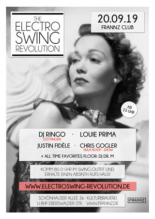 Electro Swing Revolution am 20.09.2019 @ FRANNZ CLUB BERLIN