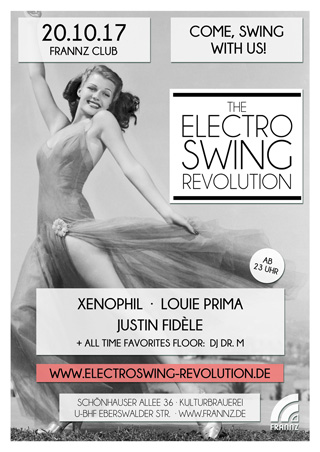 Electro Swing Revolution am 20.10.2017 @ FRANNZ CLUB BERLIN