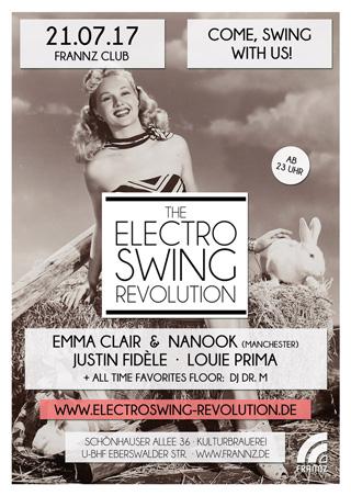 Electro Swing Revolution am 21.07.2017 @ FRANNZ CLUB BERLIN
