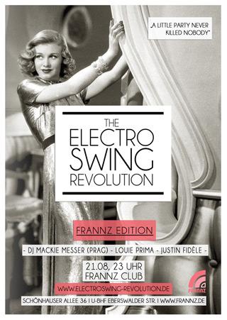 Electro Swing Revolution am 21.08.2015 @ FRANNZ CLUB BERLIN