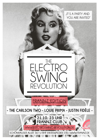 Electro Swing Revolution am 21.10.2016 @ FRANNZ CLUB BERLIN