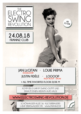 Electro Swing Revolution am 24.08.2018 @ FRANNZ CLUB BERLIN