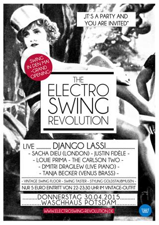 Electro Swing Revolution am 30.04.2015 @ WASCHHAUS POTSDAM