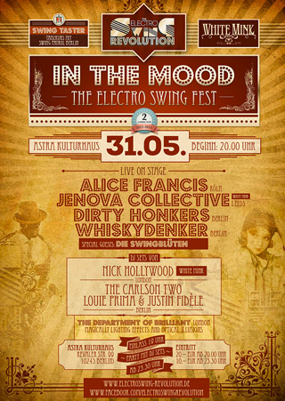 IN THE MOOD - The Electro Swing Fest an 31.05.2014 @ ASTRA BERLIN
