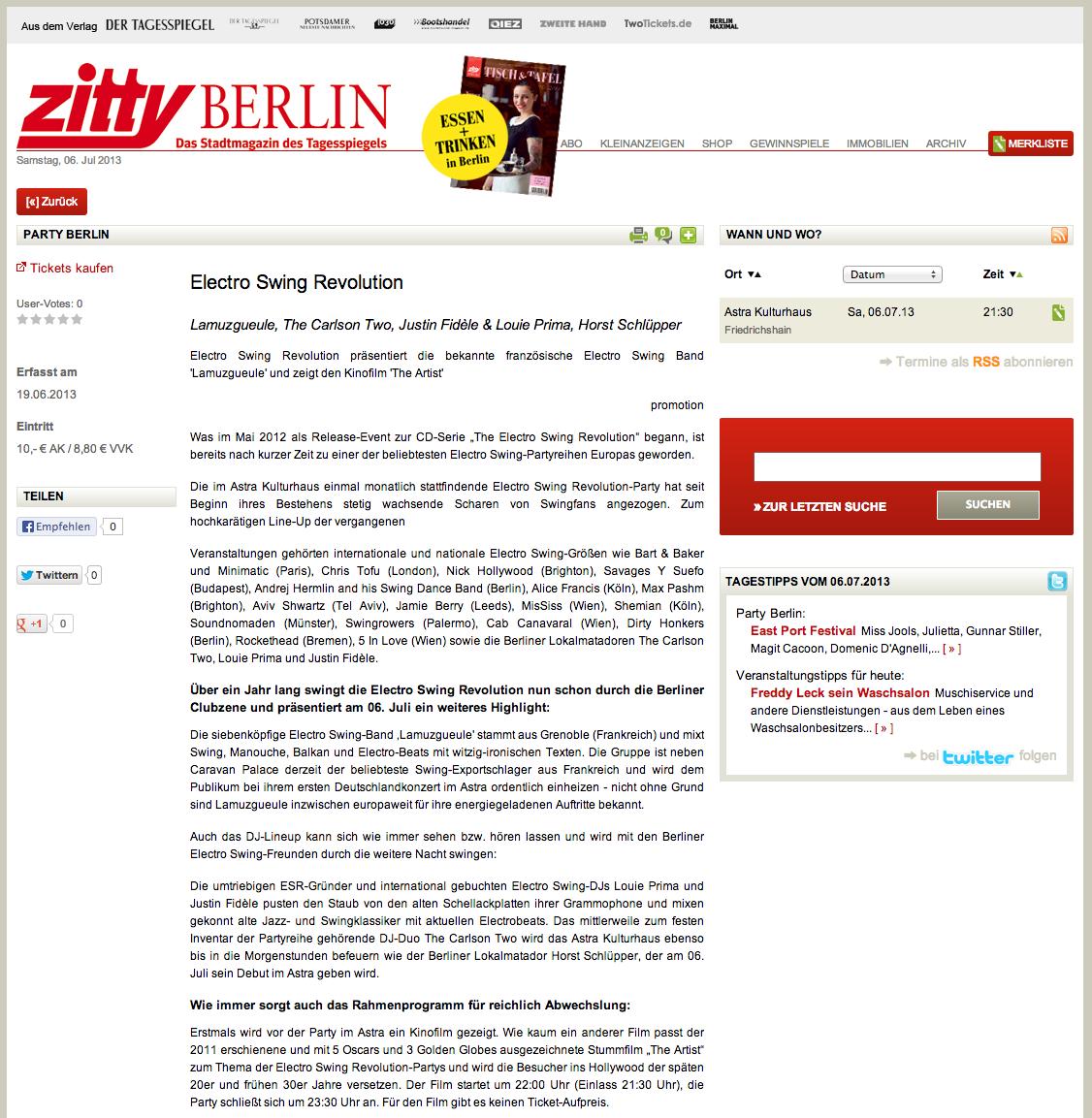 Electro Swing Revolution Berlin