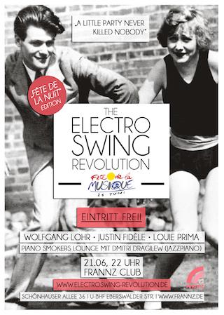 Electro Swing Revolution am 21.06.2015 @ FRANNZ CLUB BERLIN